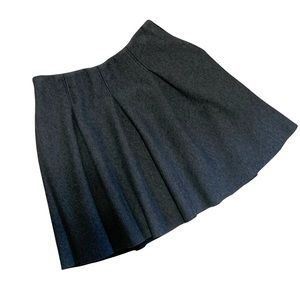 1. state grey flowy flannel pleated a line skirt